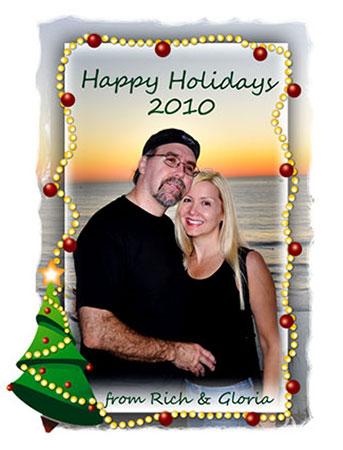 Gloria Hansen and Richard Hansen - 2010 - holiday card